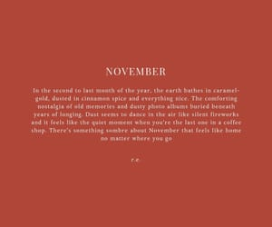 qoutes, words, and november image