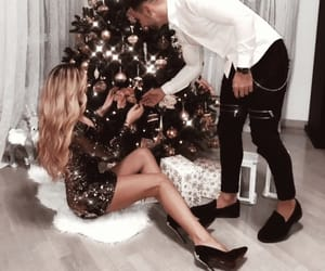 christmas, couples, and love image