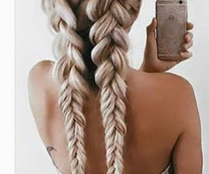 blonde, braids, and long hair image