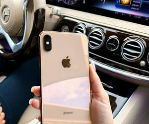 iphone, apple, and car image