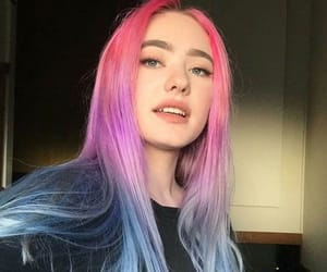colored, hair, and colored hair image