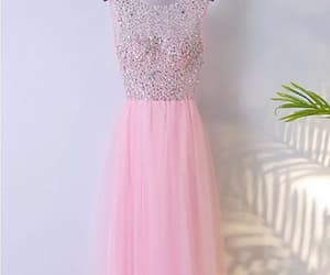 cute prom dresses, sleeveless prom dresses, and prom dresses pink image