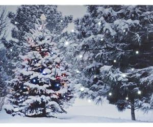 christmas, lights, and snow image