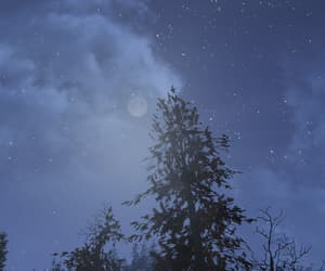 clouds, night sky, and fallout image