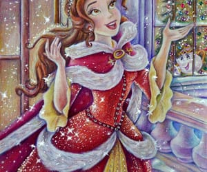 beauty and the beast, belle, and navidad image