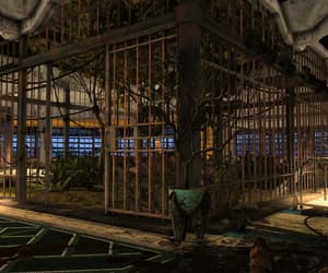 cage, indoors, and run-down image