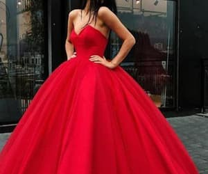 simple wedding dress, beautiful wedding dress, and red prom dresses image