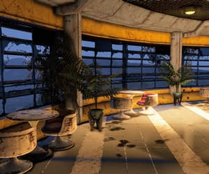 fallout, pale yellow, and potted plants image