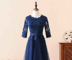 bridesmaid dresses, prom dress blue, and prom dress long image