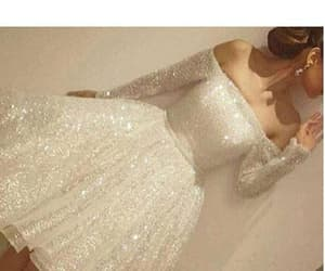 white prom dress and prom dress 2018 image