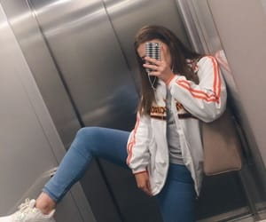 girl, style, and selfie image