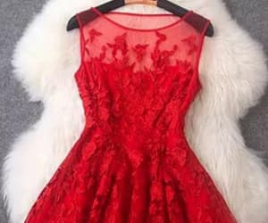 short prom dress, red homecoming dresses, and lace prom dress image