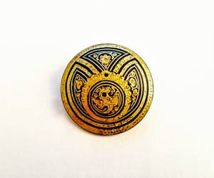 etsy, vintage jewelry, and black and gold pin image