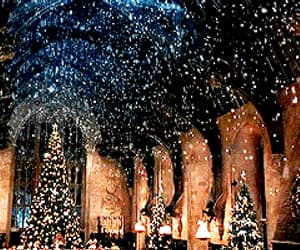 gifs, harry potter, and winter image
