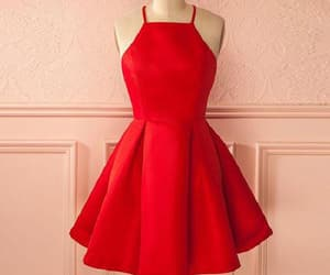 prom dresses, homecoming dress, and red homecoming dress image