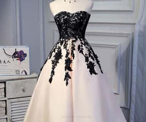 short prom dress, a-line homecoming dresses, and prom dress lace image