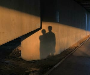 brown, couple, and shadow image