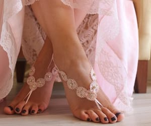 accessories, wedding shoes, and bridal lace sandals image