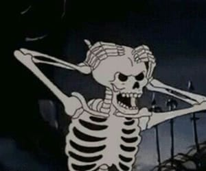 skeleton, Halloween, and aesthetic image