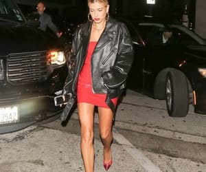 hailey, leather, and bieber image