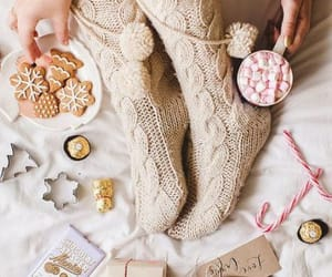 slippers, leg warmer, and furry slippers image