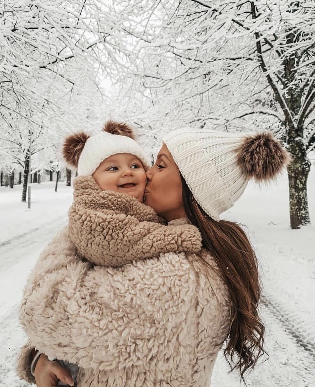 winter, snow, and style image