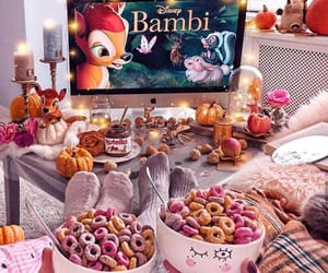 bambi, disney, and food image