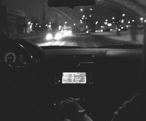 couple, car, and night image