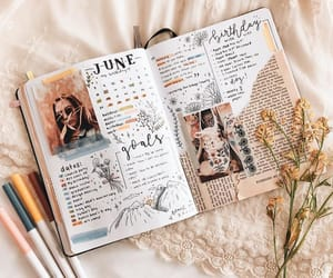 bullet journal, journal, and writing image