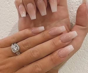 nails, beauty, and ring image