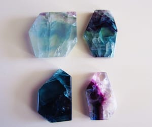 crystal, blue, and grunge image
