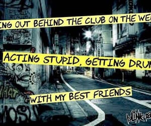 blink-182, punk, and quote image