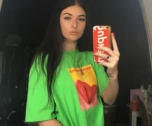 girl and brunette image