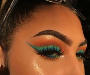 blue, cosmetics, and eyeshadow image