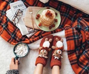 winter, christmas, and pancakes image