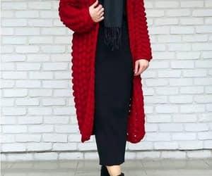 chunky cardigan hijab image