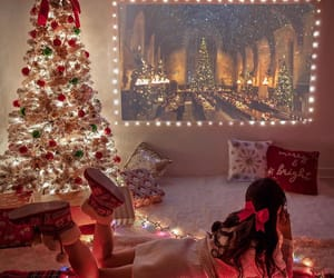 christmas, holiday, and christmas lights image
