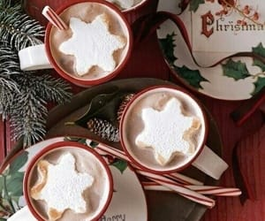 christmas, hot cocoa, and winer image