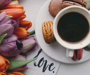 coffee, dessert, and morning image