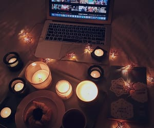 candles, chill, and christmas image
