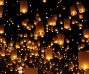 floating lanterns image