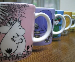 mug, moomin, and mooming mug image