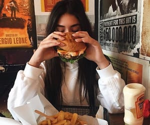 girl, food, and beautiful image