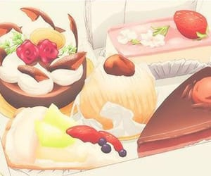 anime, cute illustration, and anime food image