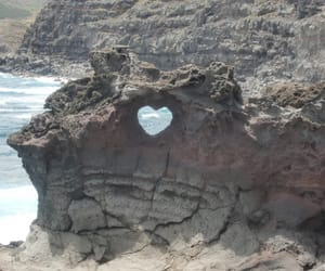 heart, nature, and rock image