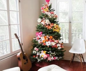 christmas, flowers, and tree image