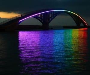 bridge, rainbow, and rainbow bridge image