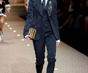 fashion, runway, and suit image