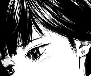 anime, beauty, and black white image