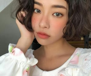 asian girl, cabelo, and delicate image